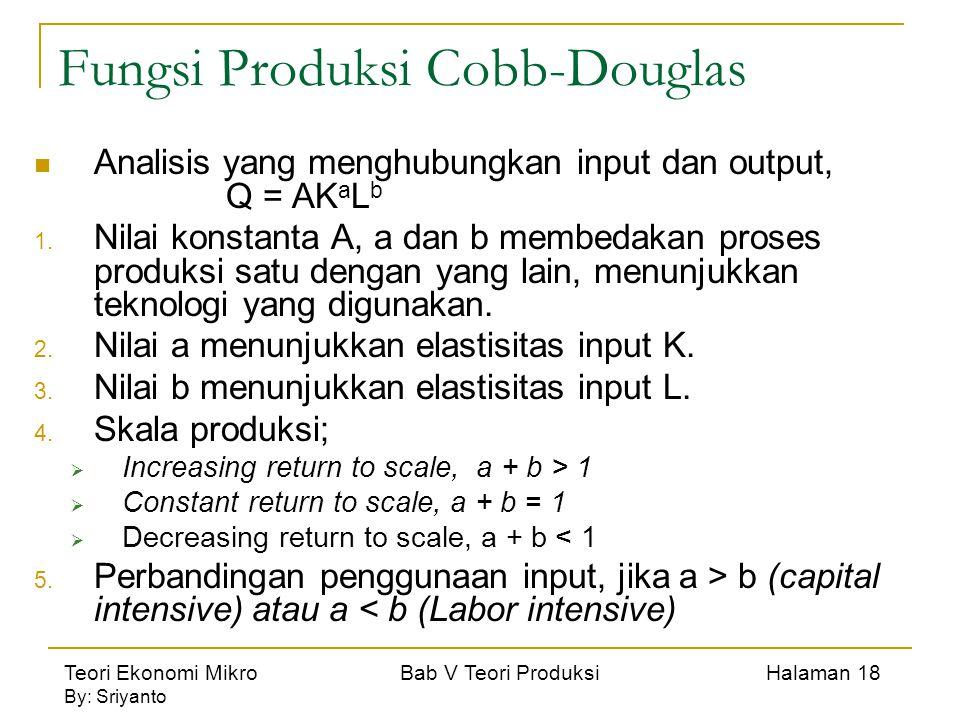 Fungsi Produksi Cobb-Douglas