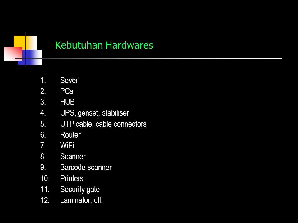 Kebutuhan Hardwares Sever PCs HUB UPS, genset, stabiliser