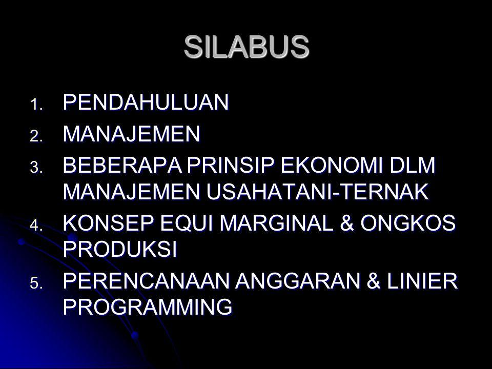 SILABUS PENDAHULUAN MANAJEMEN