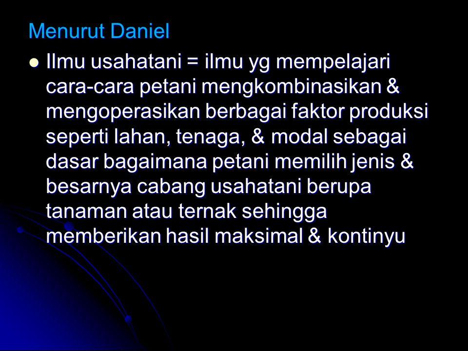 Menurut Daniel