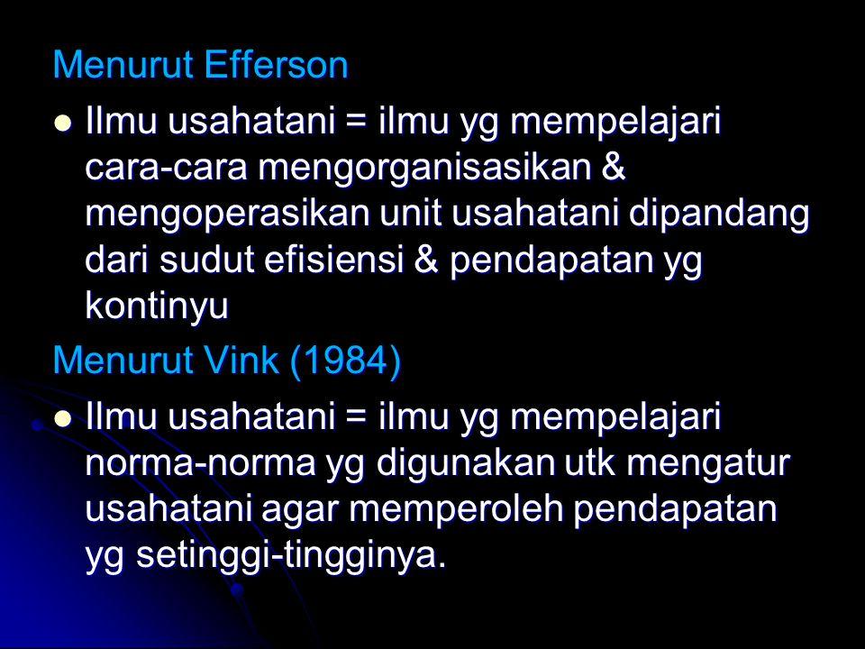 Menurut Efferson