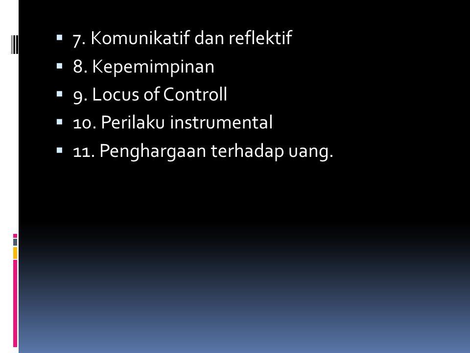 7. Komunikatif dan reflektif
