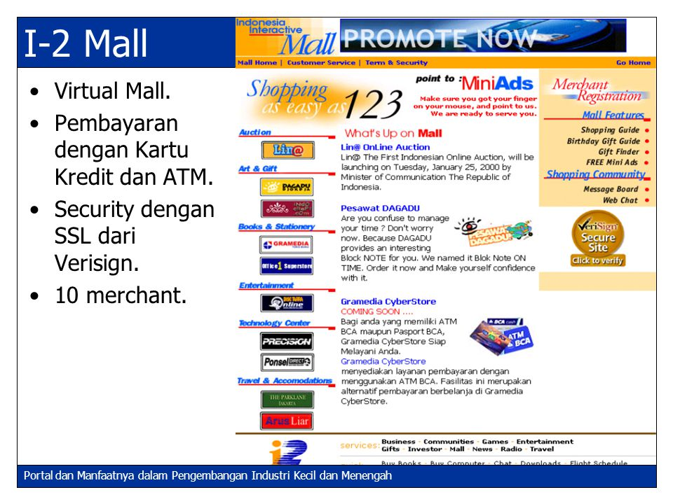 I-2 Mall Virtual Mall. Pembayaran dengan Kartu Kredit dan ATM.
