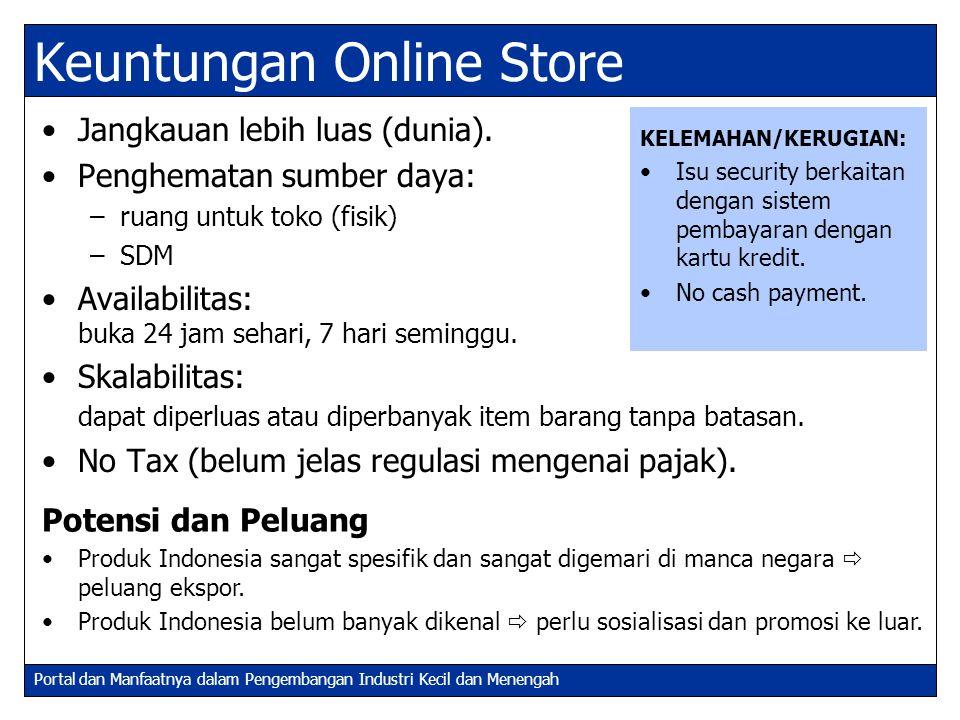 Keuntungan Online Store