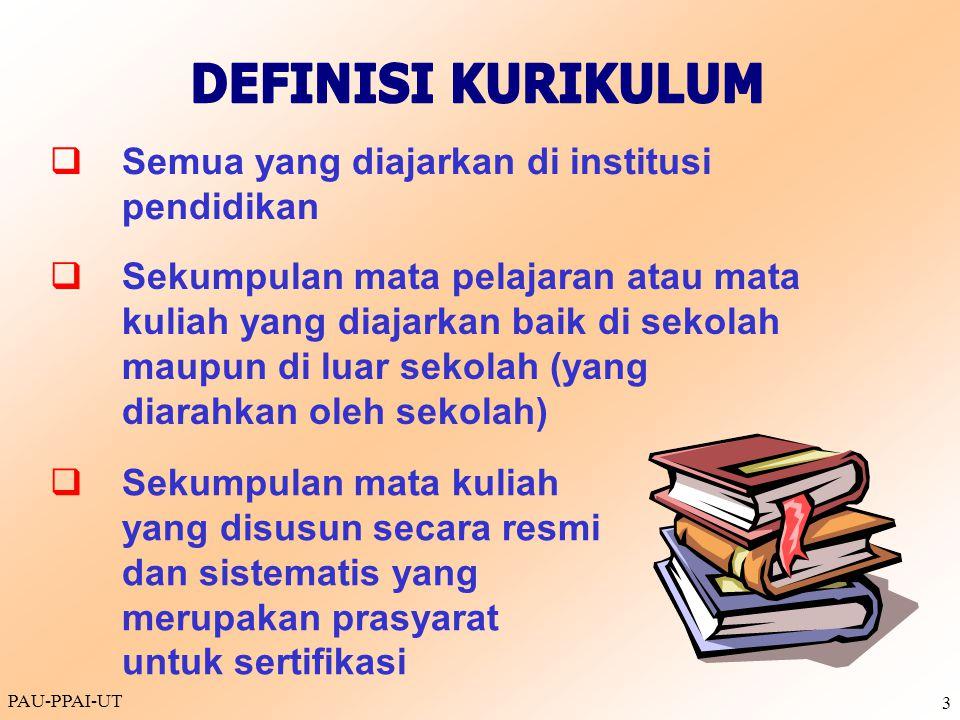 DEFINISI KURIKULUM q Semua yang diajarkan di institusi pendidikan