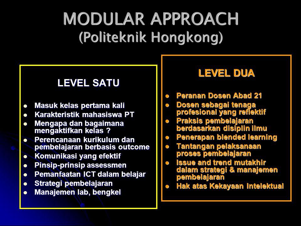 MODULAR APPROACH (Politeknik Hongkong)