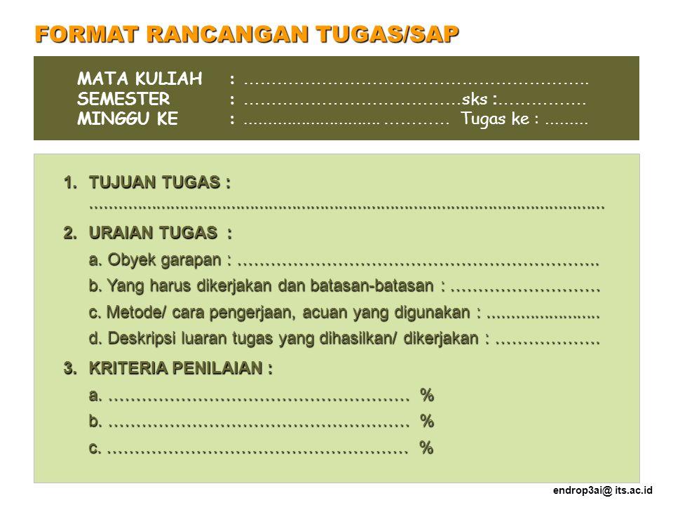 FORMAT RANCANGAN TUGAS/SAP