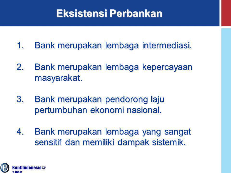 Eksistensi Perbankan Bank merupakan lembaga intermediasi.