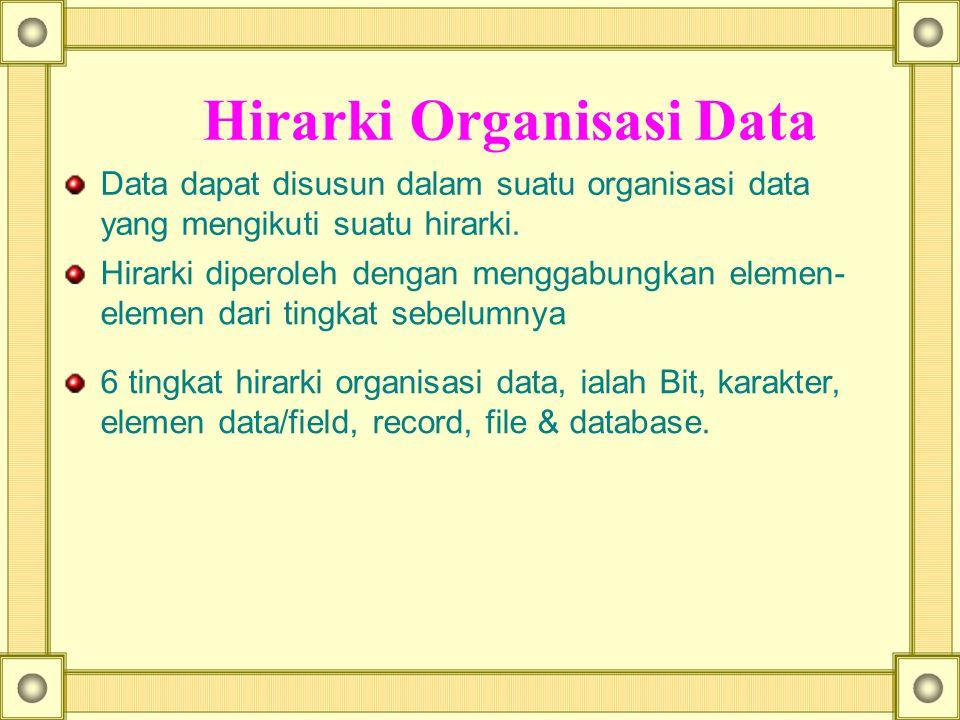 Hirarki Organisasi Data