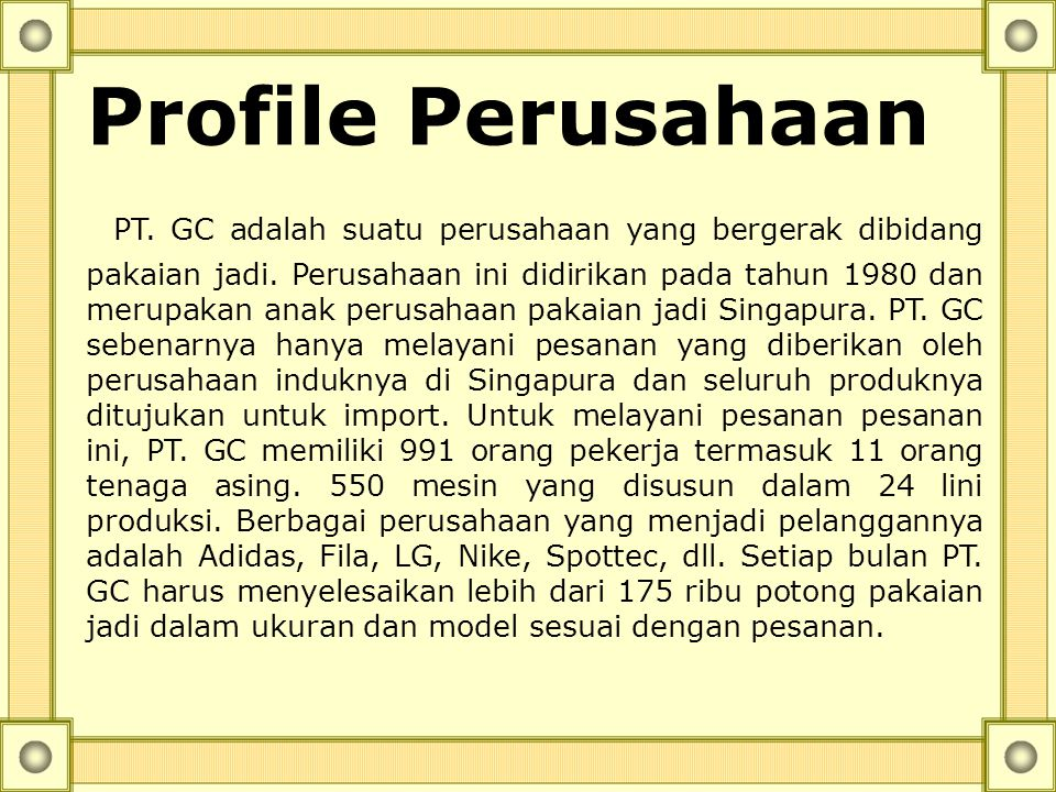 Profile Perusahaan