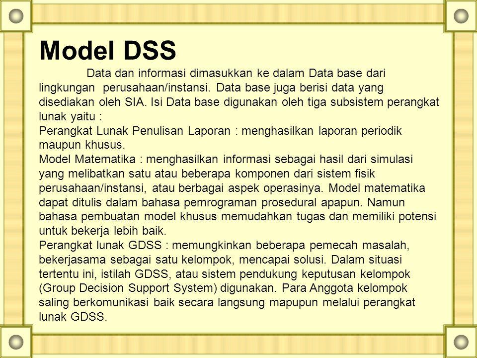 Model DSS