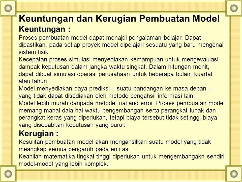 Keuntungan dan Kerugian Pembuatan Model