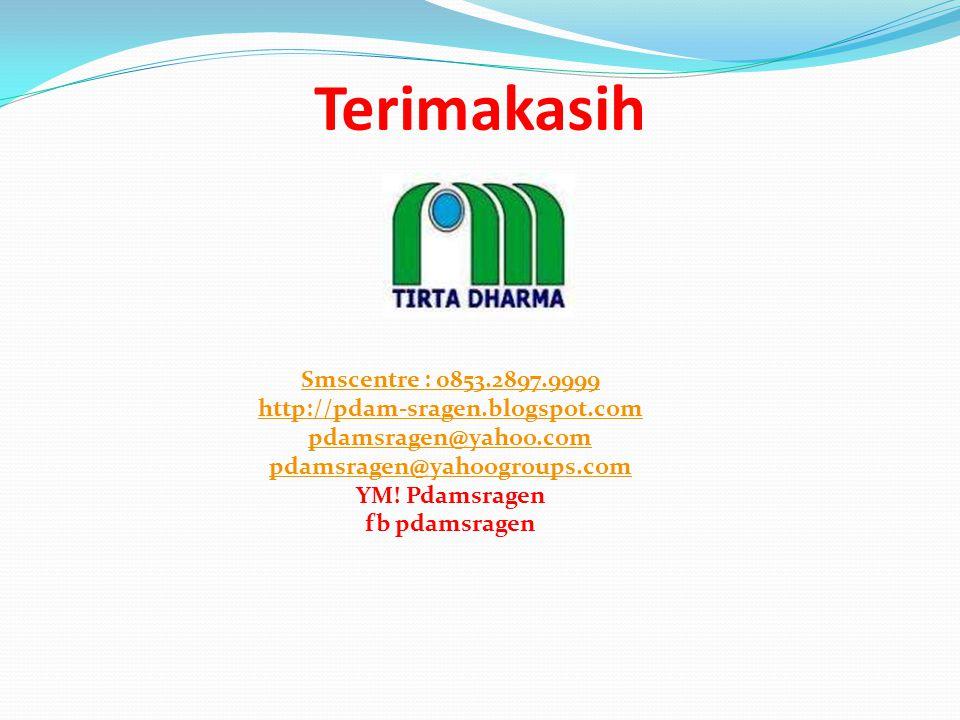 Terimakasih Smscentre : 0853.2897.9999 http://pdam-sragen.blogspot.com