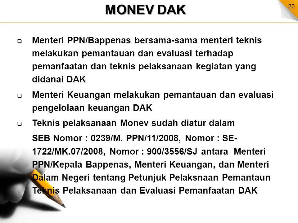 MONEV DAK