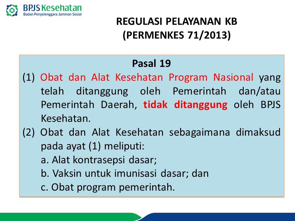 REGULASI PELAYANAN KB (PERMENKES 71/2013)