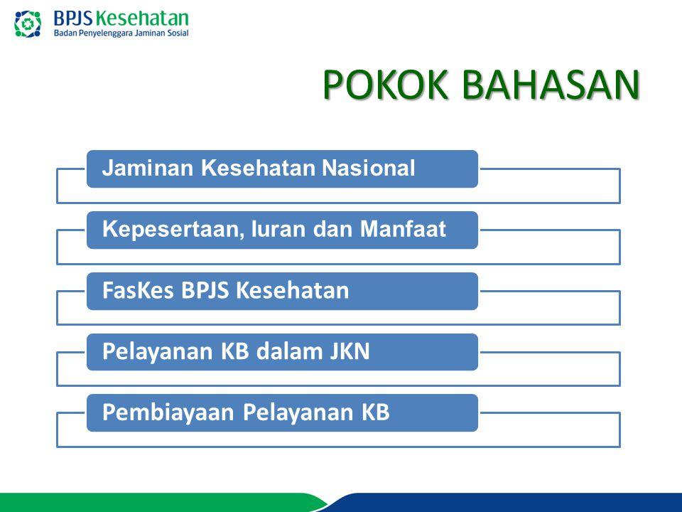 POKOK BAHASAN FasKes BPJS Kesehatan Pelayanan KB dalam JKN