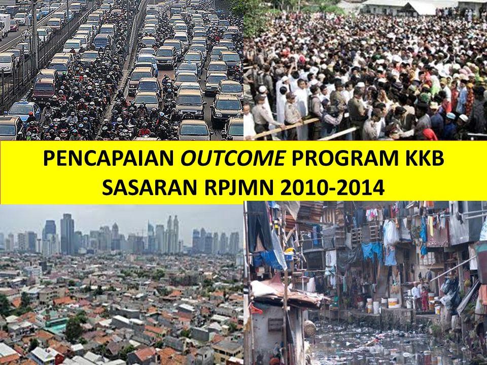 PENCAPAIAN OUTCOME PROGRAM KKB SASARAN RPJMN 2010-2014