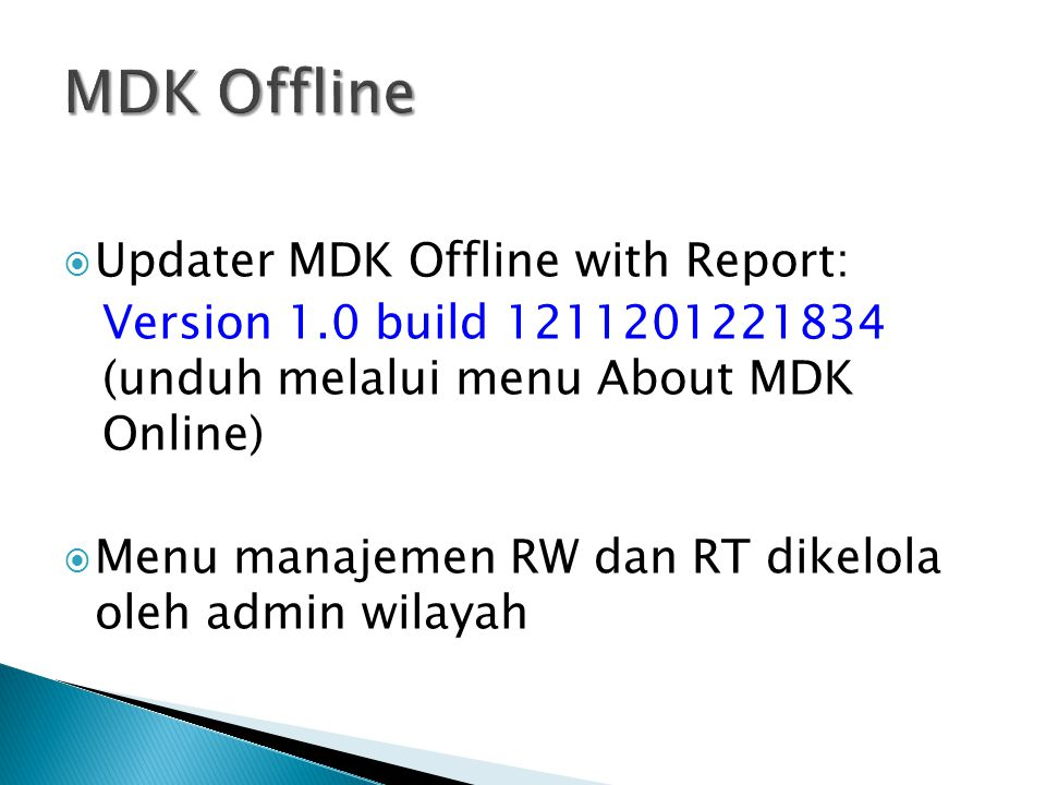MDK Offline Updater MDK Offline with Report: