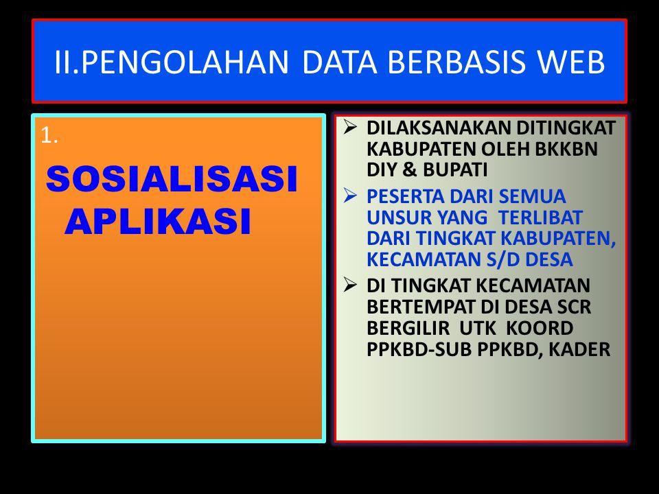 II.PENGOLAHAN DATA BERBASIS WEB