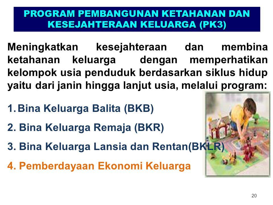PROGRAM PEMBANGUNAN KETAHANAN DAN KESEJAHTERAAN KELUARGA (PK3)
