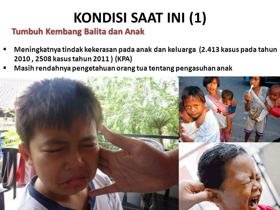 KONDISI SAAT INI (1) Tumbuh Kembang Balita dan Anak