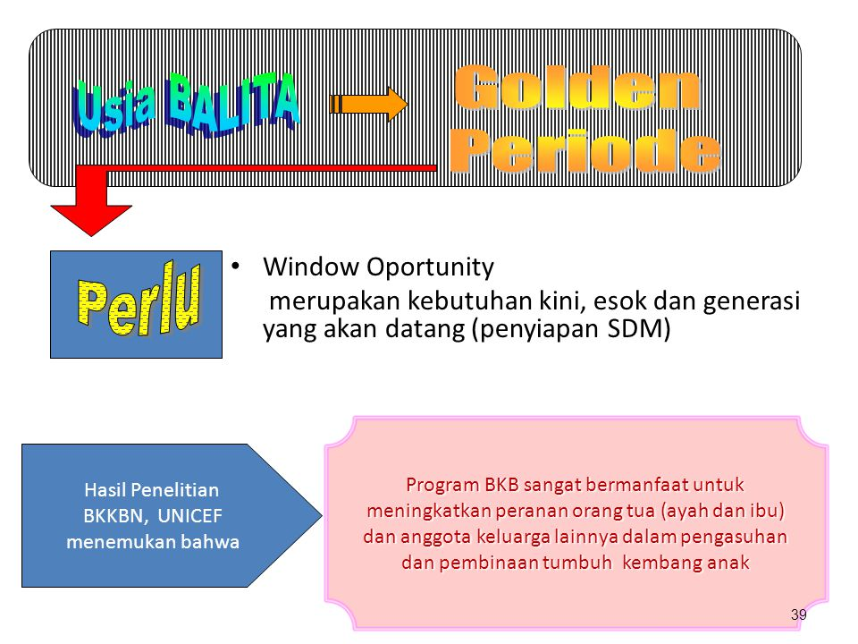 Golden Usia BALITA Periode Perlu Window Oportunity