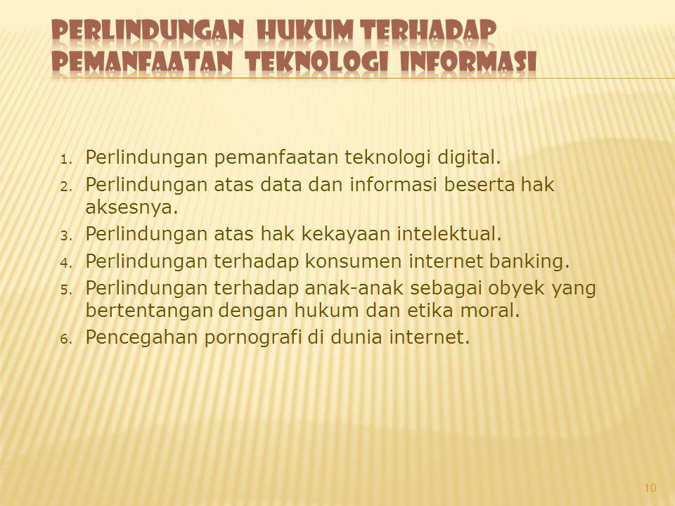 Perlindungan Hukum terhadap Pemanfaatan Teknologi Informasi