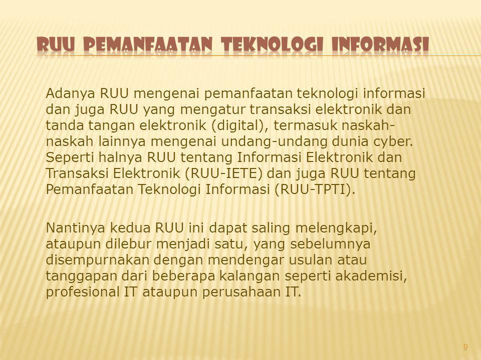 RUU pemanfaatan teknologi informasi