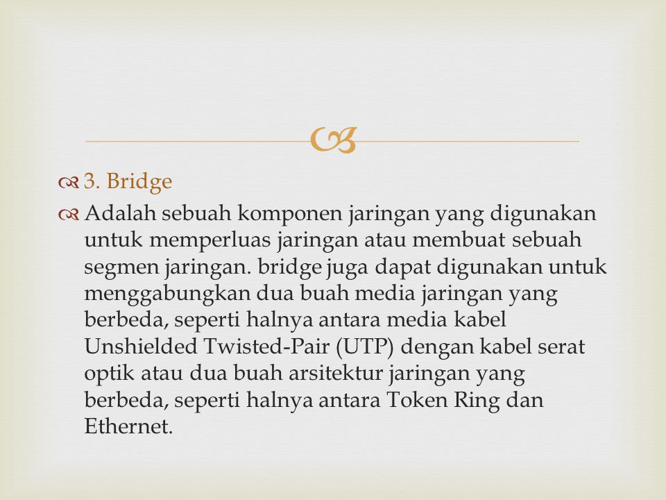 3. Bridge