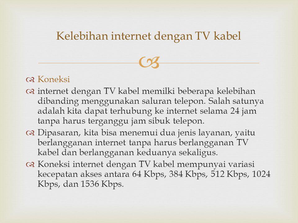 Kelebihan internet dengan TV kabel