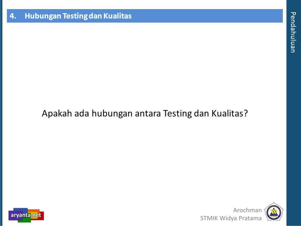 4. Hubungan Testing dan Kualitas