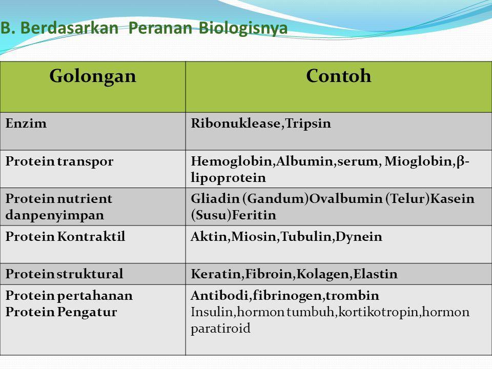 B. Berdasarkan Peranan Biologisnya