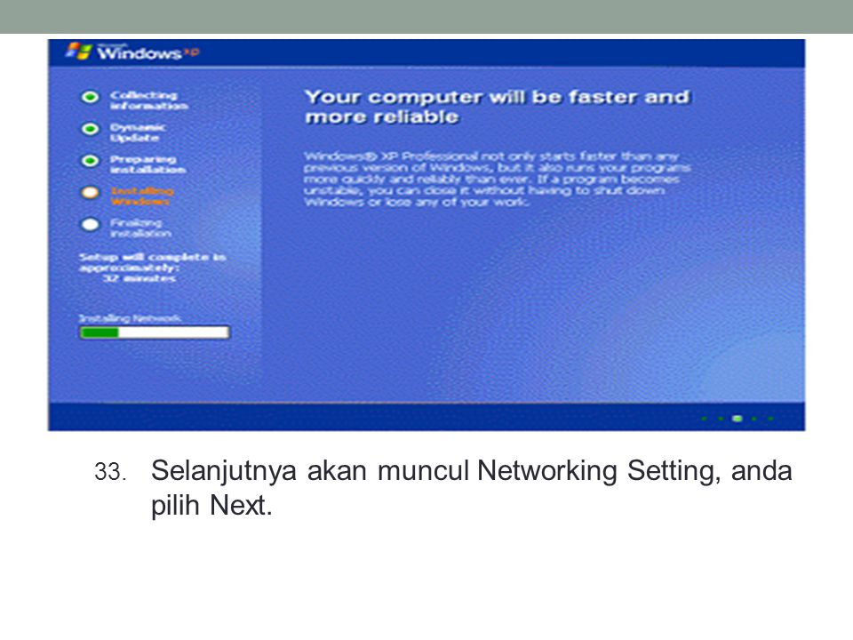 Selanjutnya akan muncul Networking Setting, anda pilih Next.