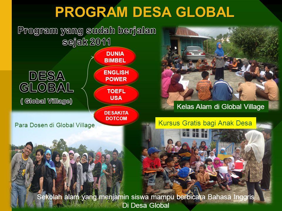 Program yang sudah berjalan sejak 2011