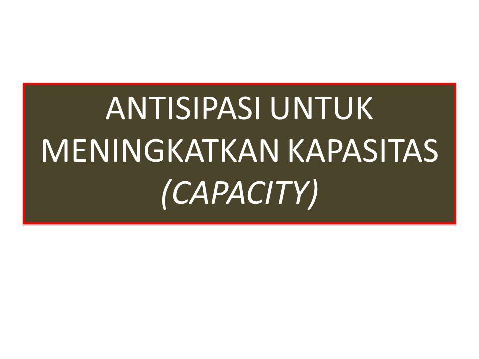 ANTISIPASI UNTUK MENINGKATKAN KAPASITAS (CAPACITY)