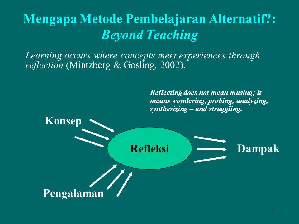 Mengapa Metode Pembelajaran Alternatif : Beyond Teaching