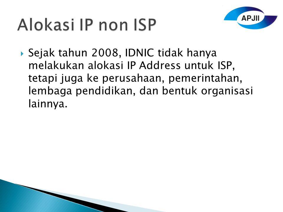 Alokasi IP non ISP