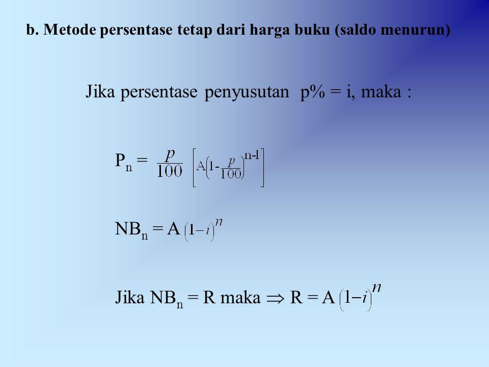 Pn = NBn = A Jika NBn = R maka  R = A