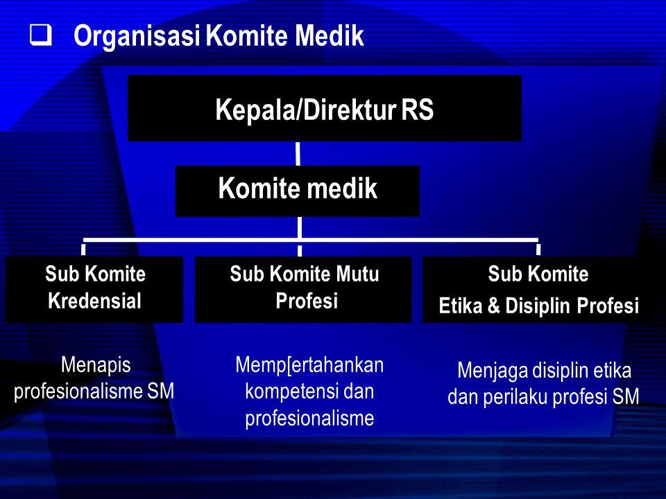 Organisasi Komite Medik Kepala/Direktur RS Komite medik