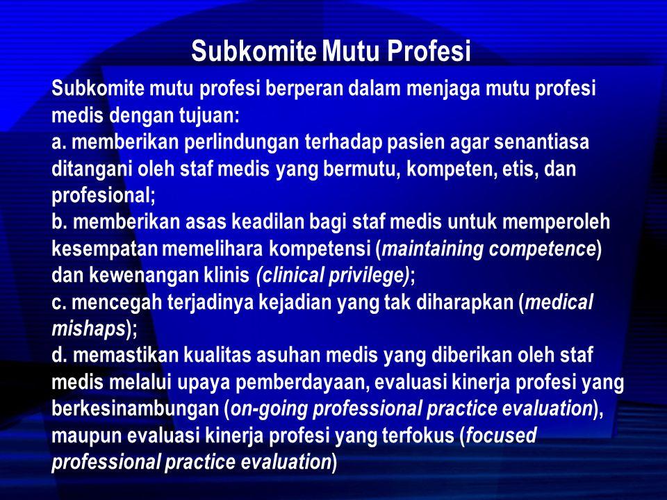 Subkomite Mutu Profesi