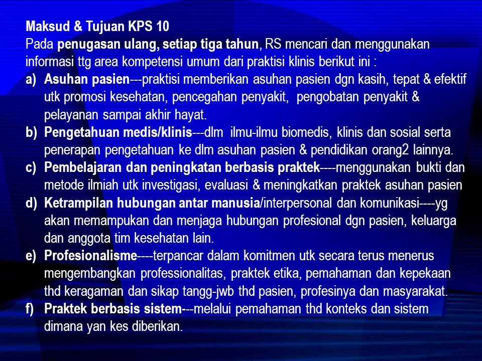 Maksud & Tujuan KPS 10