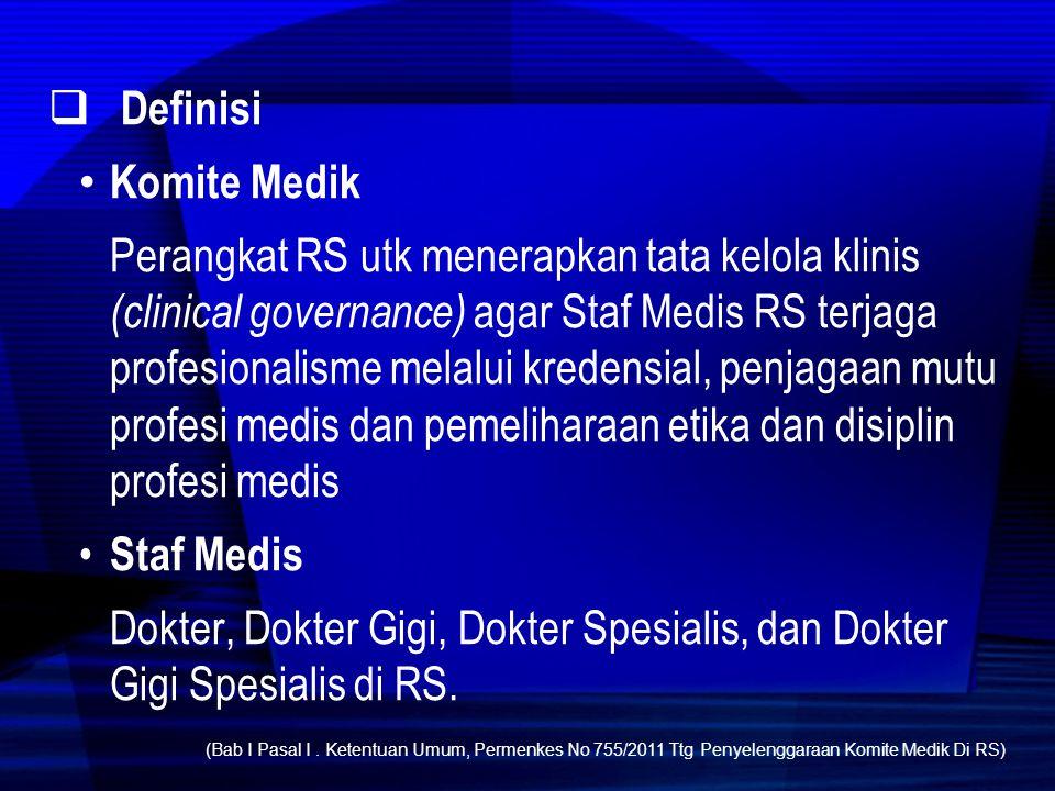 Definisi Komite Medik.