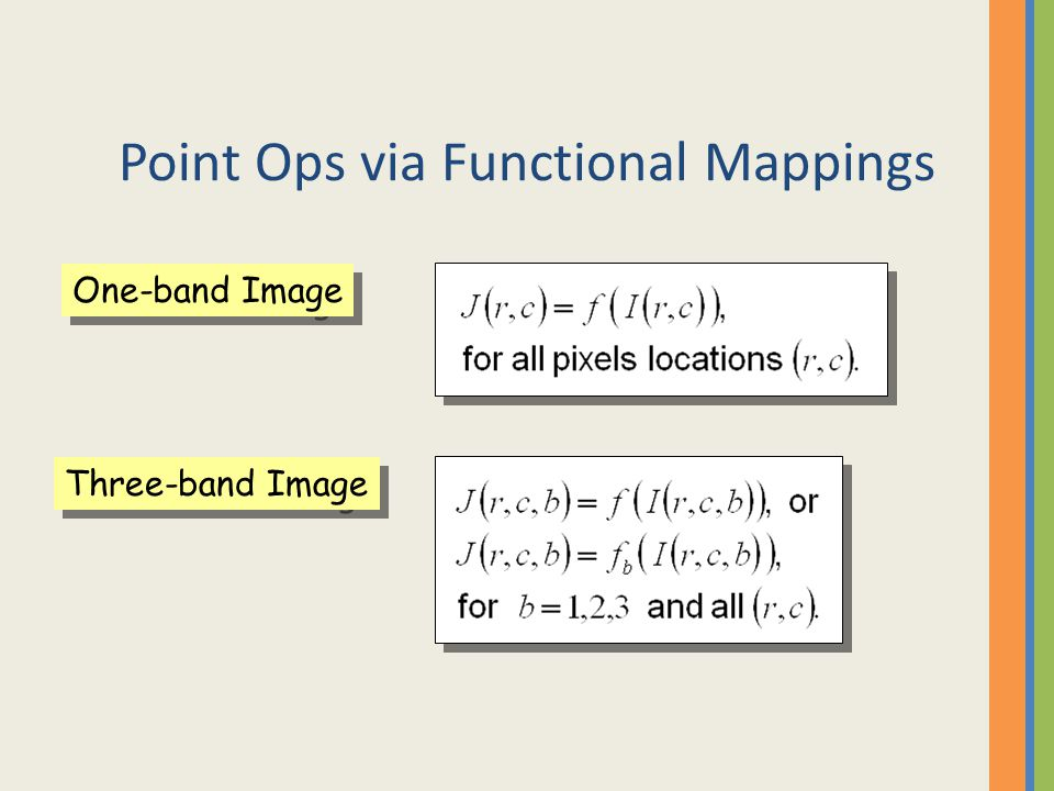 Point Ops via Functional Mappings