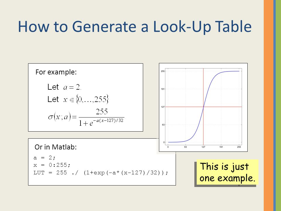 How to Generate a Look-Up Table