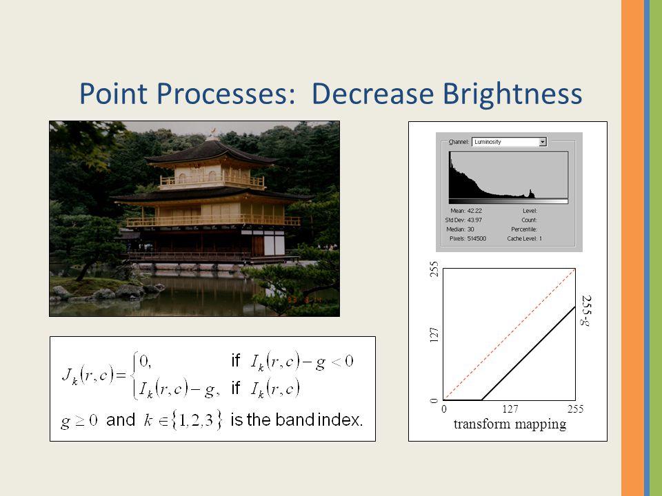 Point Processes: Decrease Brightness