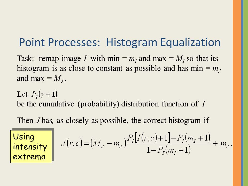 Point Processes: Histogram Equalization