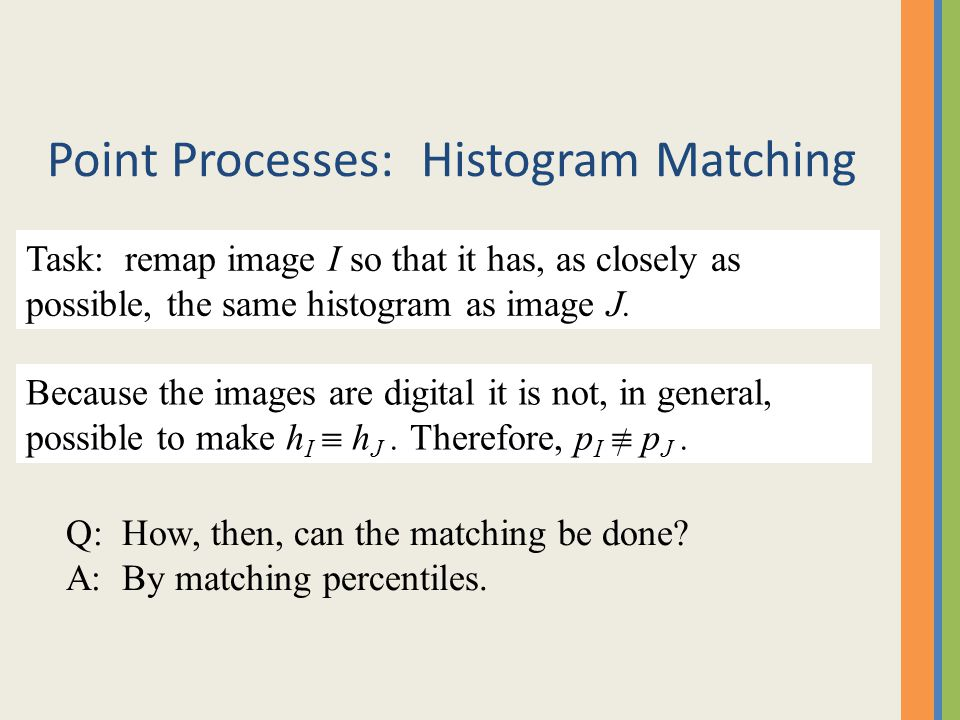 Point Processes: Histogram Matching