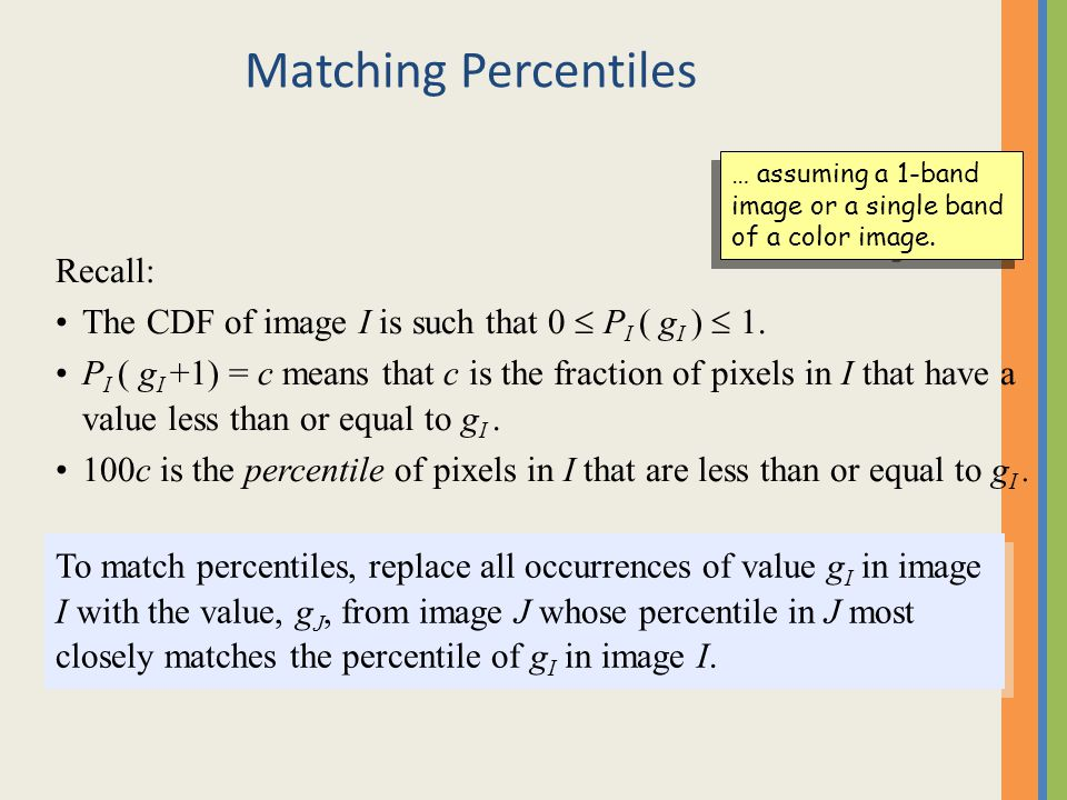 Matching Percentiles Recall: