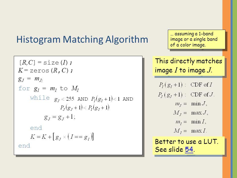 Histogram Matching Algorithm