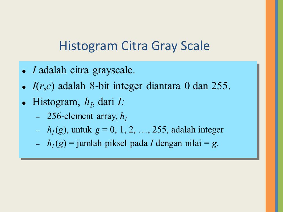 Histogram Citra Gray Scale